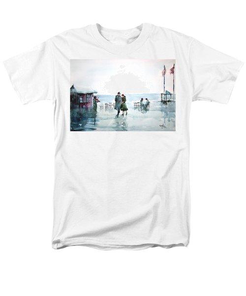 Men's T-Shirt  (Regular Fit) featuring the painting Rain Serenad - Moments Of Life... by Faruk Koksal