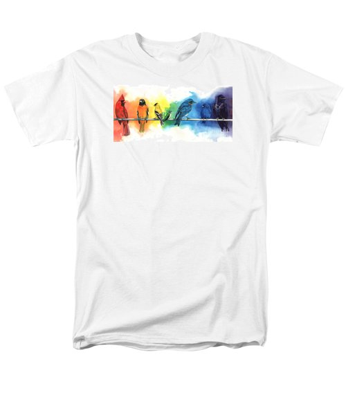 Rainbow Birds Men's T-Shirt  (Regular Fit) by Antony Galbraith