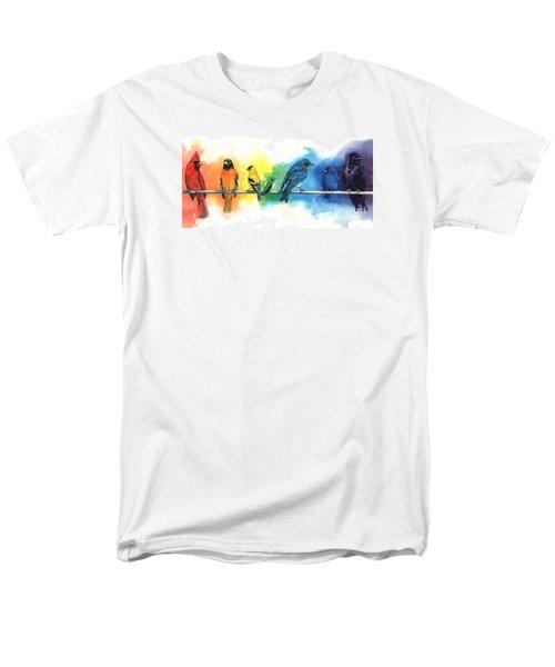 Rainbow Birds Men's T-Shirt  (Regular Fit)
