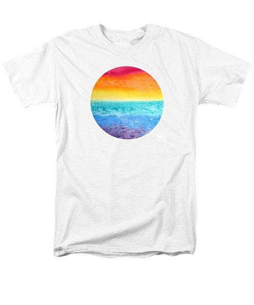 Rainbow Landscape  Men's T-Shirt  (Regular Fit) by Susan  Dimitrakopoulos