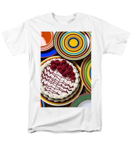Raspberry Cake Men's T-Shirt  (Regular Fit) by Garry Gay