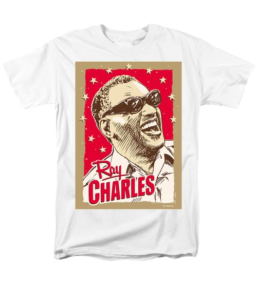 Ray Charles Pop Art Men's T-Shirt  (Regular Fit) by Jim Zahniser