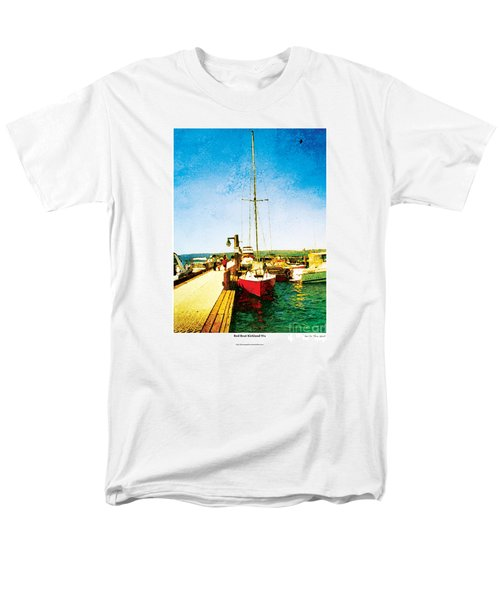 Red Boat Men's T-Shirt  (Regular Fit) by Kenneth De Tore