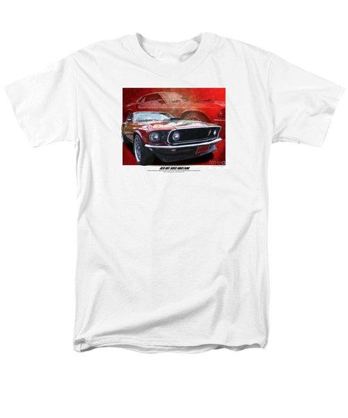 Men's T-Shirt  (Regular Fit) featuring the photograph  Boss Mustang by Kenneth De Tore