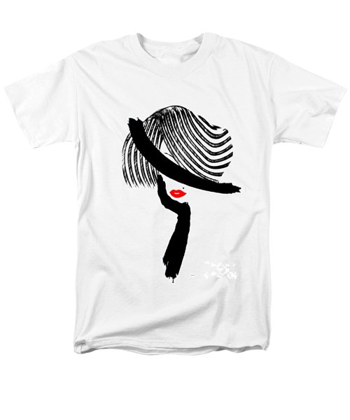 Men's T-Shirt  (Regular Fit) featuring the painting Red Lips by Rafael Salazar