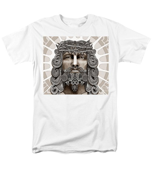 Redeemer - Modern Jesus Iconography - Copyrighted Men's T-Shirt  (Regular Fit) by Christopher Beikmann