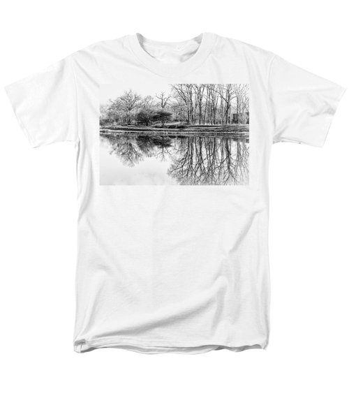 Reflection In Black And White Men's T-Shirt  (Regular Fit) by Julie Palencia