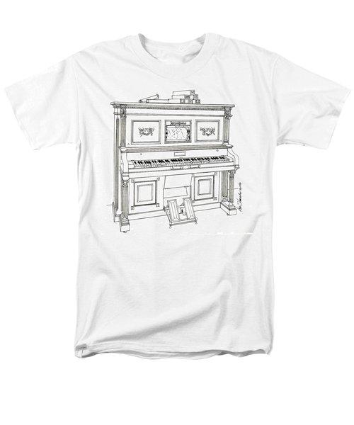 Regina Player Piano Men's T-Shirt  (Regular Fit) by Ira Shander