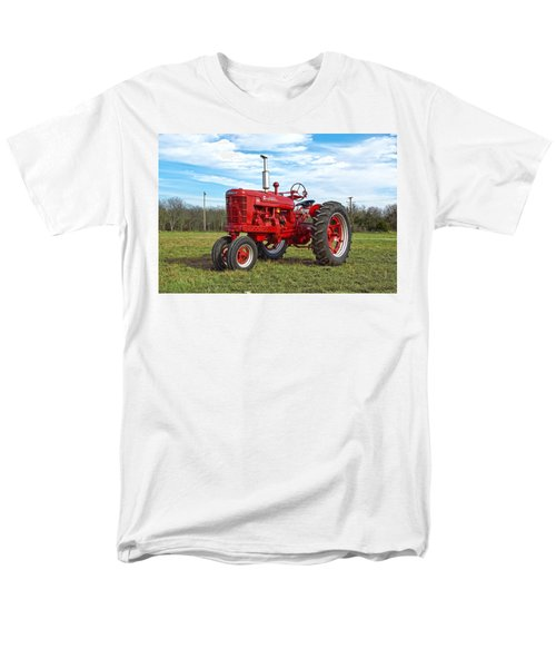 Restored Farmall Tractor Men's T-Shirt  (Regular Fit) by Charles Beeler