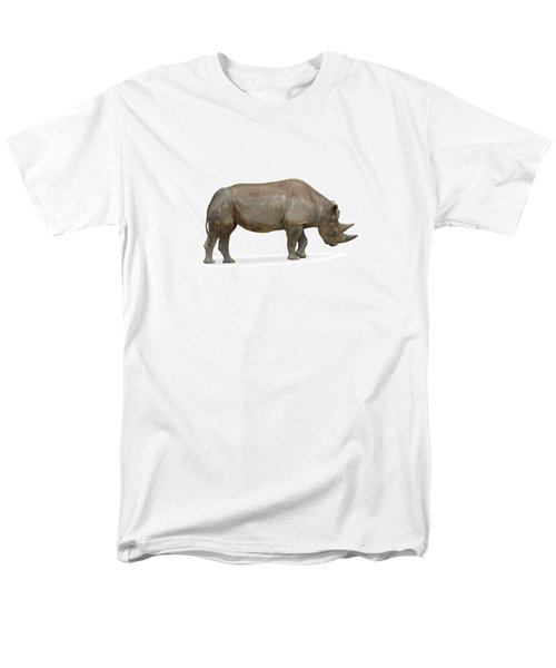 Men's T-Shirt  (Regular Fit) featuring the photograph Rhinoceros by Charles Beeler