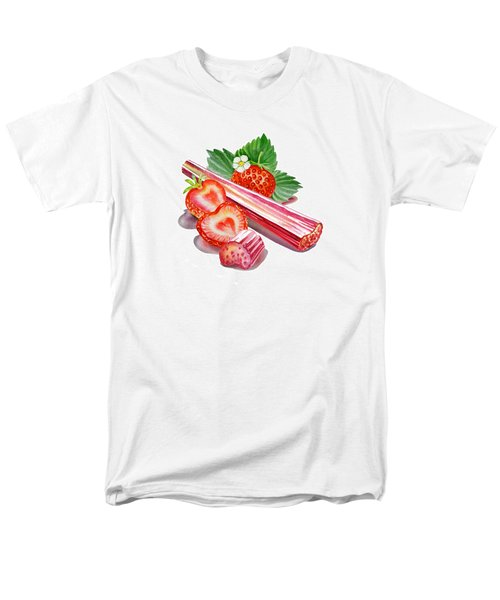 Men's T-Shirt  (Regular Fit) featuring the painting Rhubarb Strawberry by Irina Sztukowski