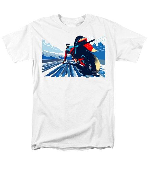 Riding On The Edge Men's T-Shirt  (Regular Fit) by Sassan Filsoof