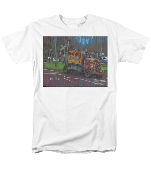 Men's T-Shirt  (Regular Fit) featuring the painting Roadside Advertising by Donald Maier