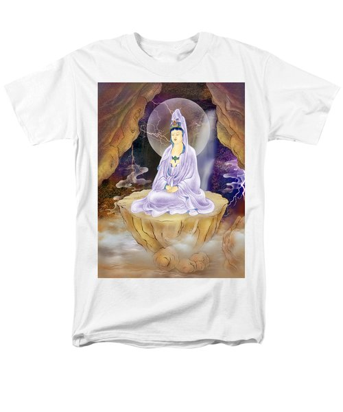 Men's T-Shirt  (Regular Fit) featuring the photograph Rock Cave Avalokitesvara  by Lanjee Chee