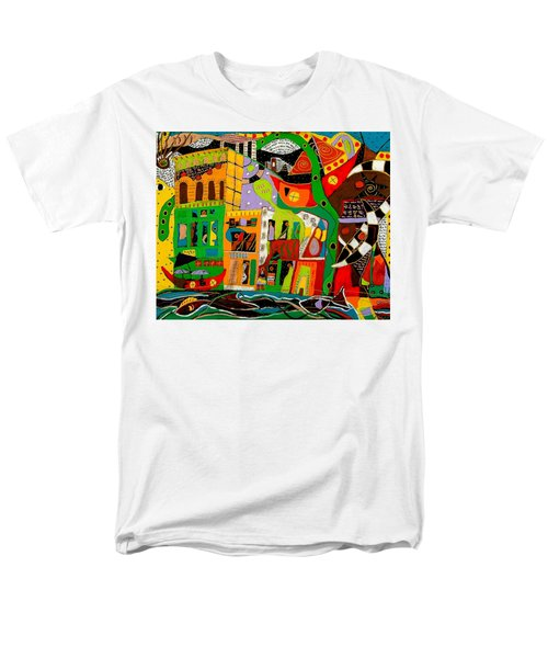 Men's T-Shirt  (Regular Fit) featuring the painting Rockland by Clarity Artists