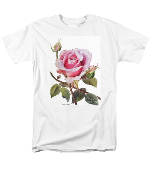Pink Rose Grace Men's T-Shirt  (Regular Fit) by Greta Corens