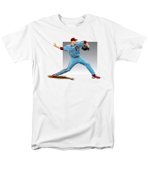 Men's T-Shirt  (Regular Fit) featuring the digital art Roy Halladay by Scott Weigner