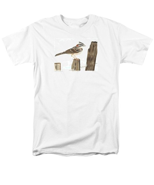 Rufous-collared Sparrow Men's T-Shirt  (Regular Fit) by Cindy Hitchcock
