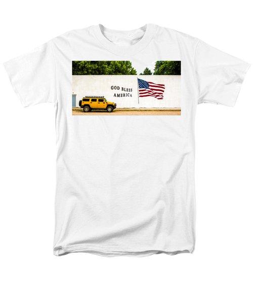 Rural America Wall Mural Men's T-Shirt  (Regular Fit) by Bill Kesler