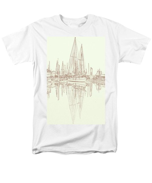 Men's T-Shirt  (Regular Fit) featuring the photograph Sailboat On Liberty Bay by Greg Reed