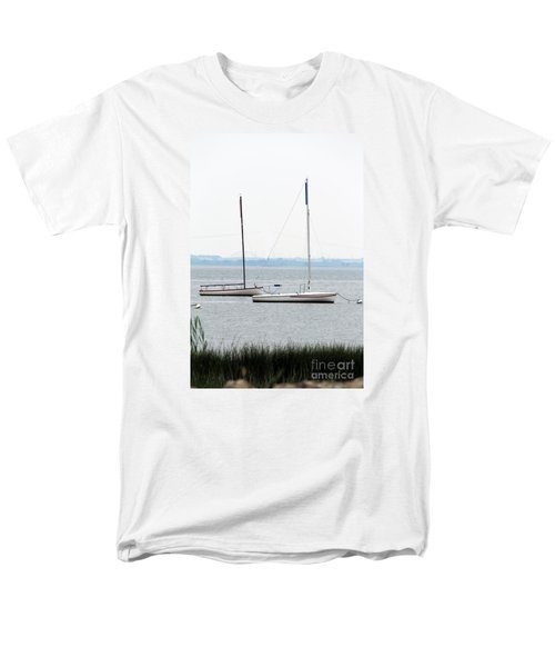 Sailboats In Battery Park Harbor Men's T-Shirt  (Regular Fit) by David Jackson