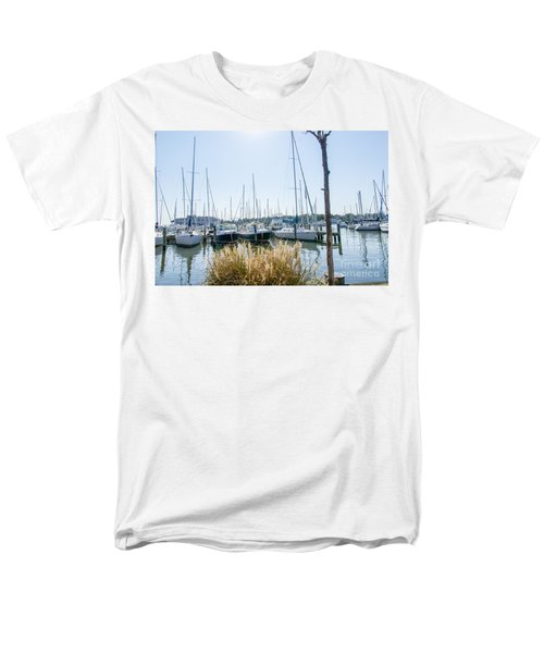 Sailboats On Back Creek Men's T-Shirt  (Regular Fit) by Charles Kraus