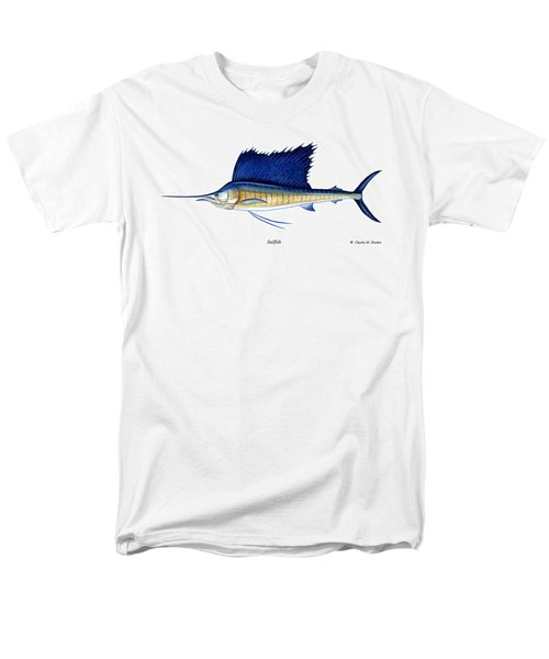Sailfish Men's T-Shirt  (Regular Fit) by Charles Harden