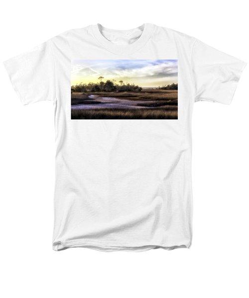 Saint Marks Wetland Sunset Men's T-Shirt  (Regular Fit) by Lynn Palmer