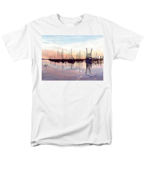 Saint Marys Marina   Shadows Light And Fire Men's T-Shirt  (Regular Fit) by Joel Deutsch