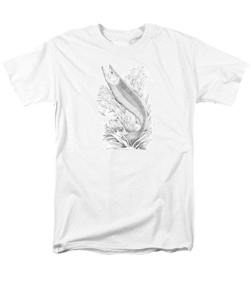 Salmon Men's T-Shirt  (Regular Fit) by Lawrence Tripoli