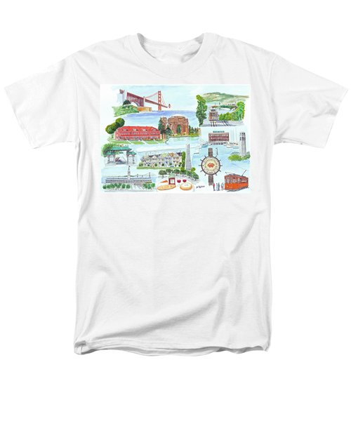 San Francisco Highlights Montage Men's T-Shirt  (Regular Fit) by Mike Robles