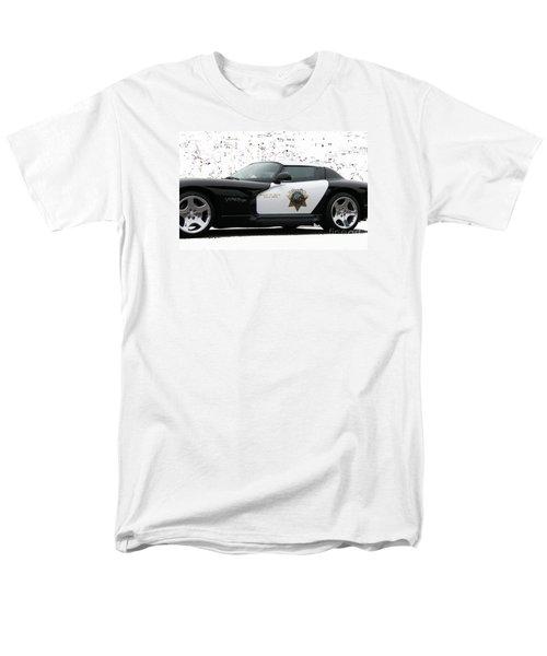 San Luis Obispo County Sheriff Viper Patrol Car Men's T-Shirt  (Regular Fit)