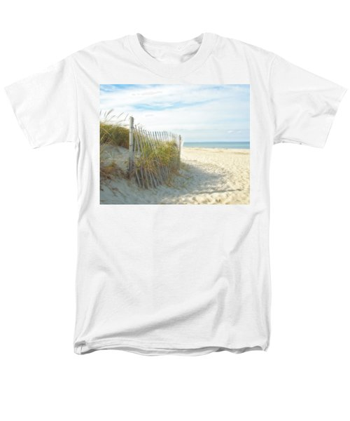 Sand Beach Ocean And Dunes Men's T-Shirt  (Regular Fit) by Brooke T Ryan