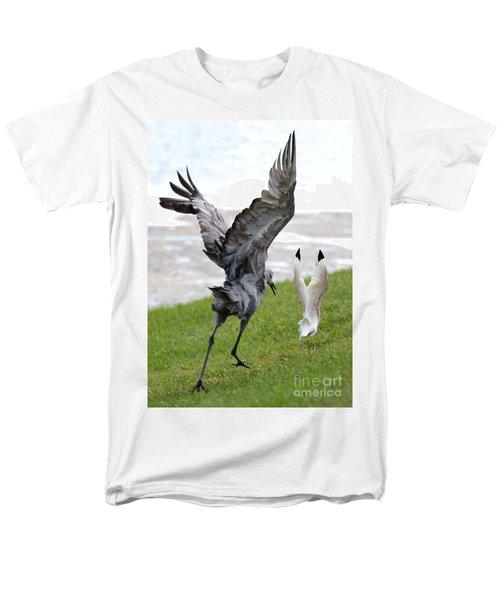 Sandhill Chasing Ibis Men's T-Shirt  (Regular Fit) by Carol Groenen
