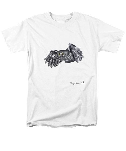 Saw-whet Owl Men's T-Shirt  (Regular Fit) by Terry Frederick