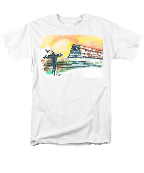 Scarecrow Welcomes The Morning Men's T-Shirt  (Regular Fit) by Seth Weaver