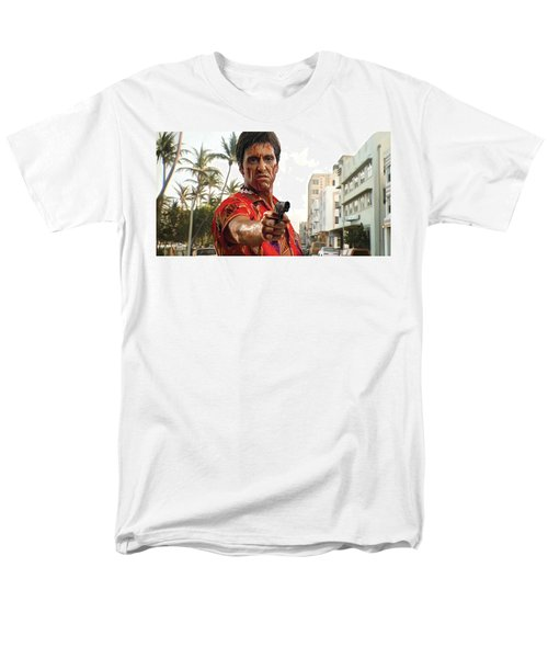 Men's T-Shirt  (Regular Fit) featuring the painting Scarface Artwork 2 by Sheraz A