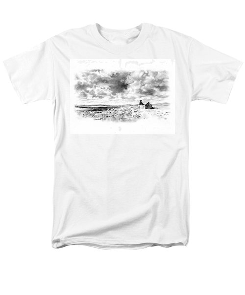 Men's T-Shirt  (Regular Fit) featuring the drawing Bleak Chapel by Paul Davenport