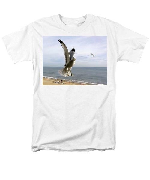 Inquisitive Seagull Men's T-Shirt  (Regular Fit) by Richard Rosenshein