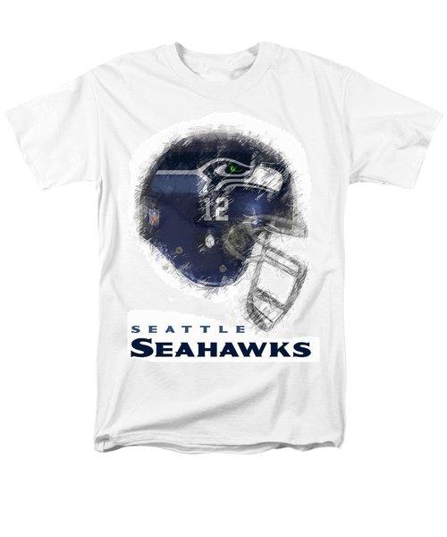 Seahawks 12 Men's T-Shirt  (Regular Fit) by Daniel Hagerman