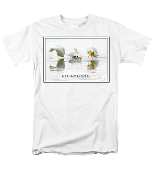 Men's T-Shirt  (Regular Fit) featuring the photograph See No Evil...speak No Evil... Hear No Evil by Mariarosa Rockefeller