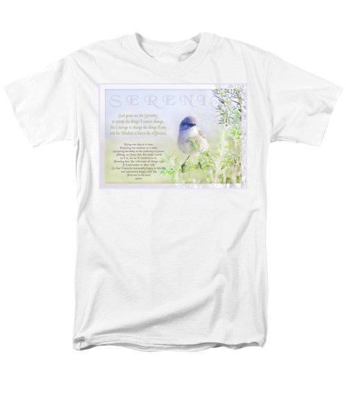 Serenity Prayer Men's T-Shirt  (Regular Fit) by Holly Kempe