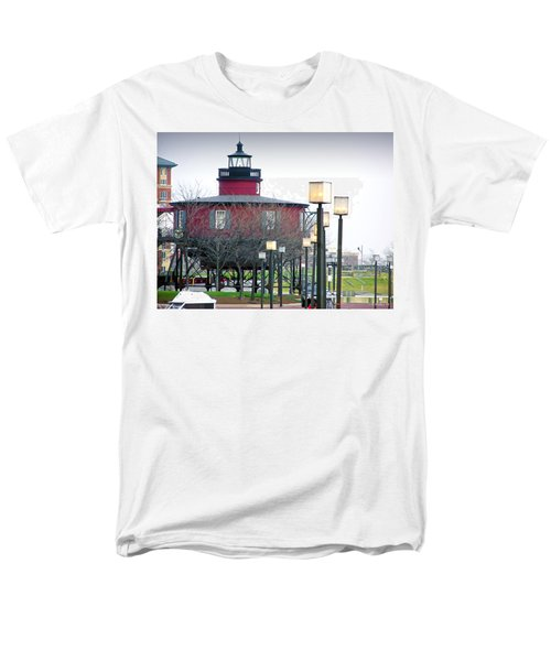 Men's T-Shirt  (Regular Fit) featuring the photograph Seven Foot Knoll Lighthouse by Brian Wallace