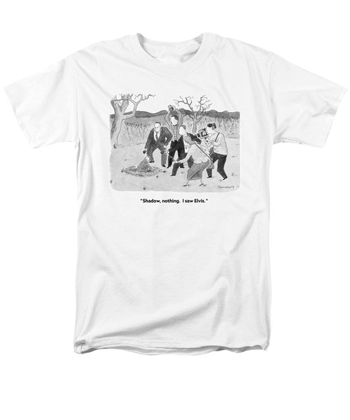Shadow, Nothing.  I Saw Elvis Men's T-Shirt  (Regular Fit)