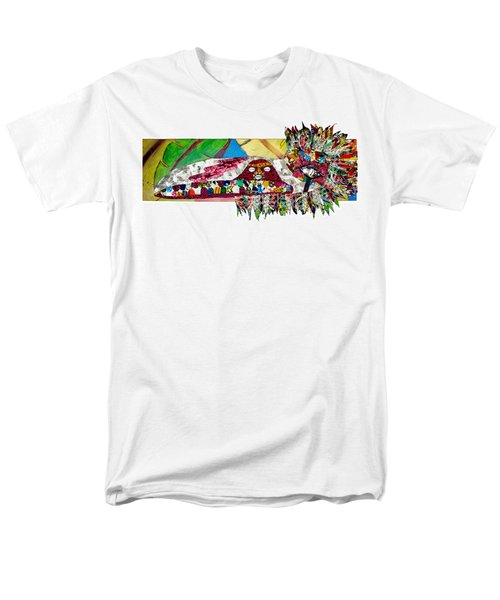 Men's T-Shirt  (Regular Fit) featuring the tapestry - textile Shango Firebird by Apanaki Temitayo M