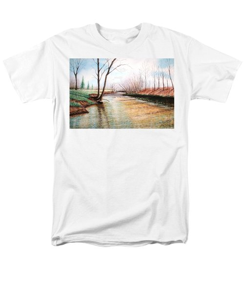 Men's T-Shirt  (Regular Fit) featuring the pastel Shelby Stream by Stacy C Bottoms