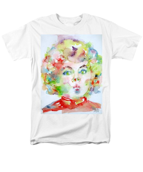 Shirley Temple - Watercolor Portrait.2 Men's T-Shirt  (Regular Fit) by Fabrizio Cassetta