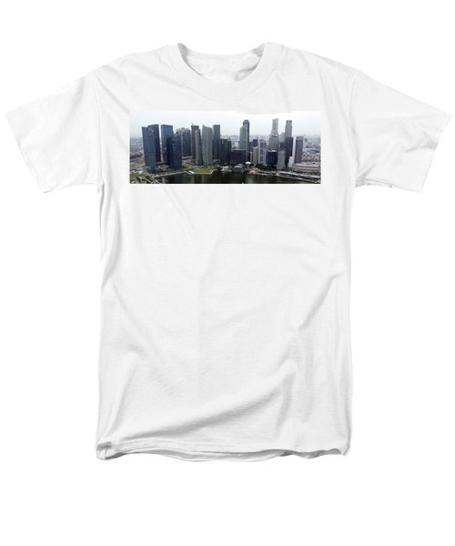 Men's T-Shirt  (Regular Fit) featuring the photograph Singapore Skyline by Shoal Hollingsworth