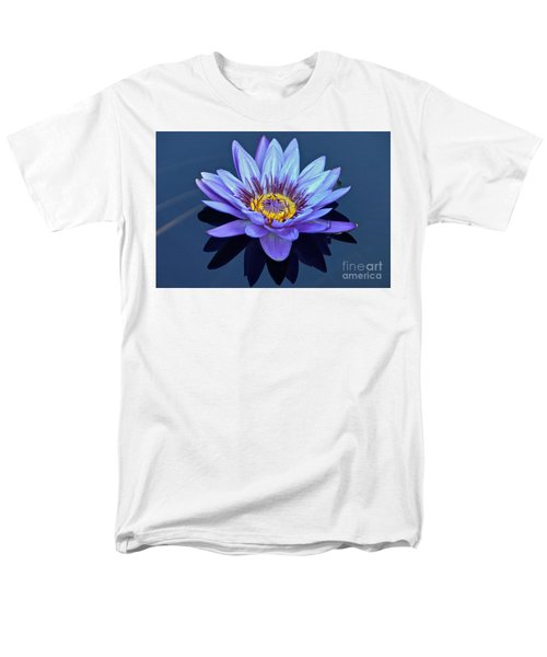 Single Lavender Water Lily Men's T-Shirt  (Regular Fit) by Byron Varvarigos