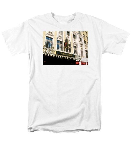 Men's T-Shirt  (Regular Fit) featuring the photograph Sir Francis Drake Hotel by Connie Fox